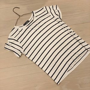 Black and White Striped Brandy Melville Tee